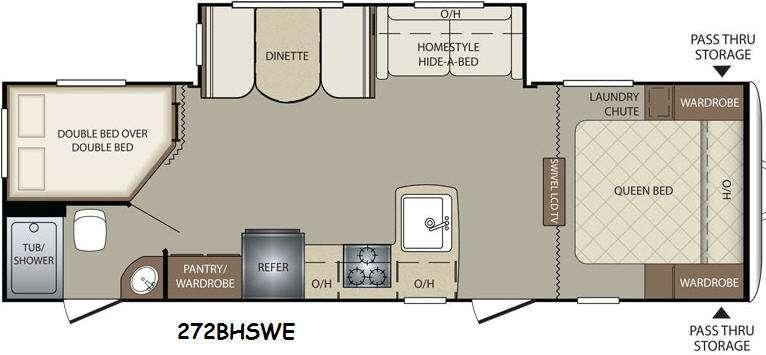 Floorplan - 2015 Keystone RV Bullet 272BHSWE
