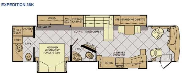 Floorplan - 2015 Fleetwood RV Expedition 38K