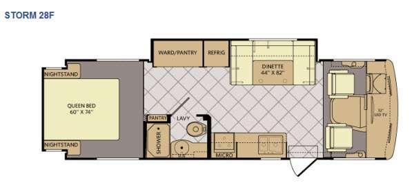 Floorplan - 2015 Fleetwood RV Storm 28F