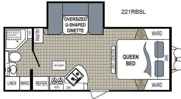 Floorplan - 2015 Dutchmen RV Kodiak 221RBSL Ultimate