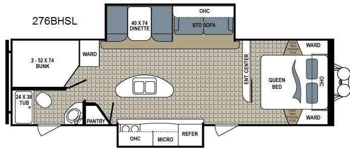 Floorplan - 2015 Dutchmen RV Kodiak 276BHSL Ultimate