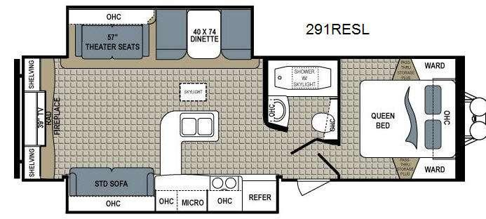Floorplan - 2015 Dutchmen RV Kodiak 291RESL Ultimate