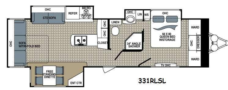 Floorplan - 2015 Dutchmen RV Kodiak 331RLSL Ultimate