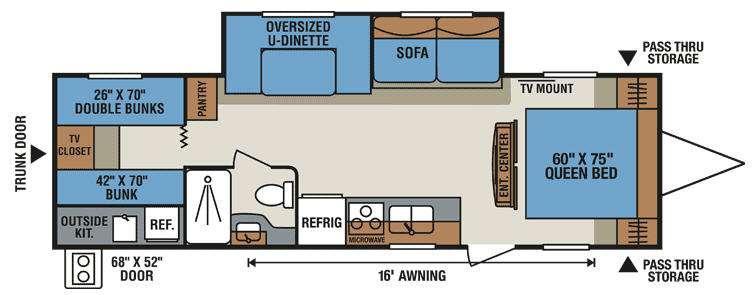 Floorplan - 2015 KZ Sportsmen S314BHK