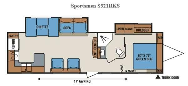 Floorplan - 2015 KZ Sportsmen S321RKS