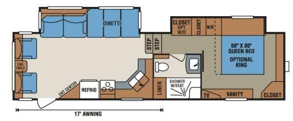 Floorplan - 2015 KZ Durango D296RL