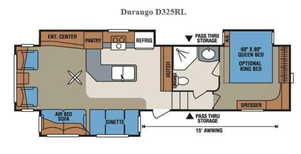Floorplan - 2015 KZ Durango D325RL