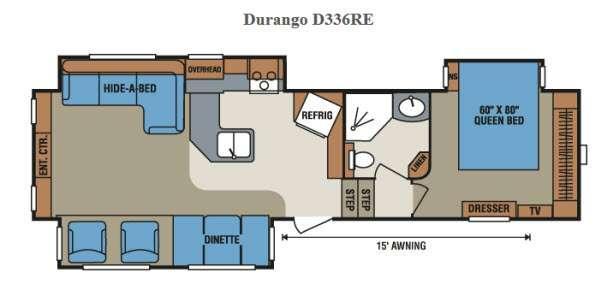 Floorplan - 2015 KZ Durango D336RE