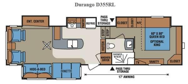Floorplan - 2015 KZ Durango D355RL