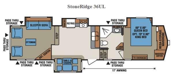 Floorplan - 2015 KZ StoneRidge 36UL