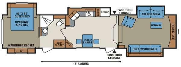 Floorplan - 2015 KZ StoneRidge 38FL