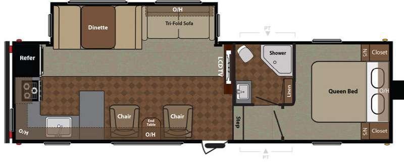 Floorplan - 2015 Keystone RV Springdale 280FWIKSSR