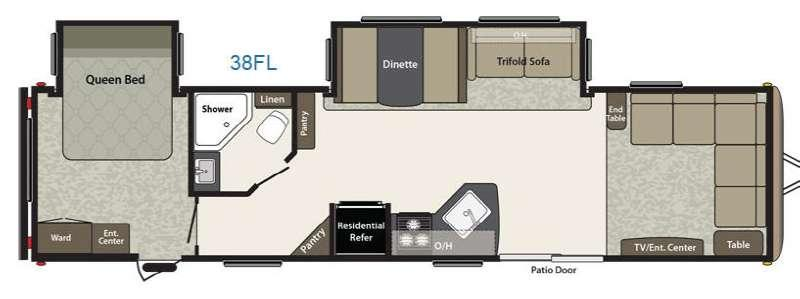 Floorplan - 2015 Keystone RV Springdale 38FL