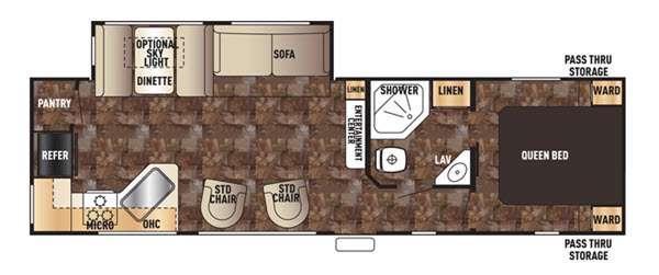 Cherokee 274RK Floorplan Image