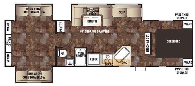Cherokee 304BS Floorplan Image