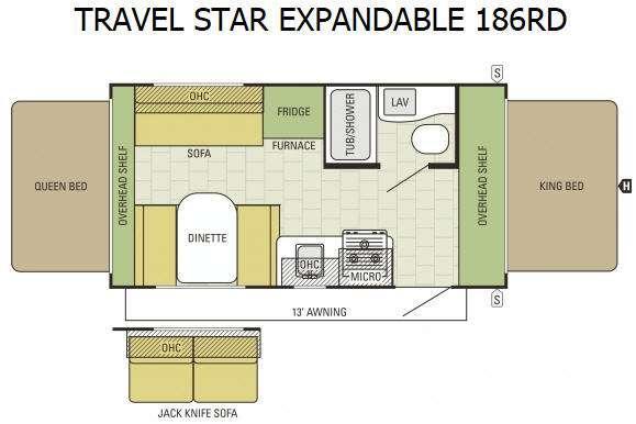 Floorplan - 2015 Starcraft Travel Star 186RD