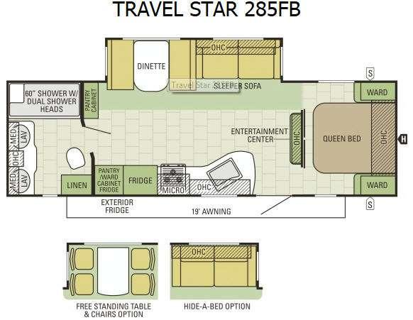 Floorplan - 2015 Starcraft Travel Star 285FB
