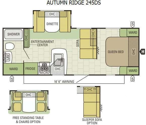 Floorplan - 2015 Starcraft Autumn Ridge 245DS