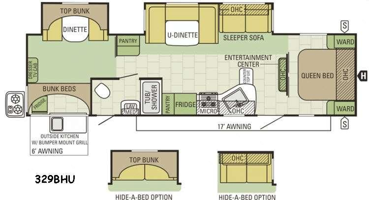 Floorplan - 2015 Starcraft Autumn Ridge 329BHU