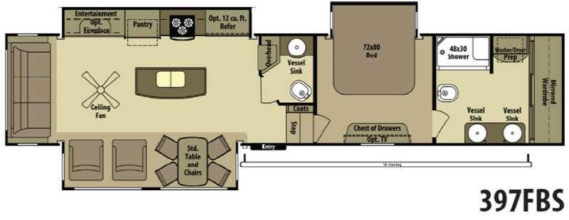Open Range RV 397FBS Floorplan Image