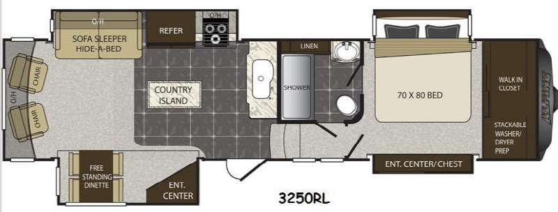 Floorplan - 2015 Keystone RV Alpine 3250RL