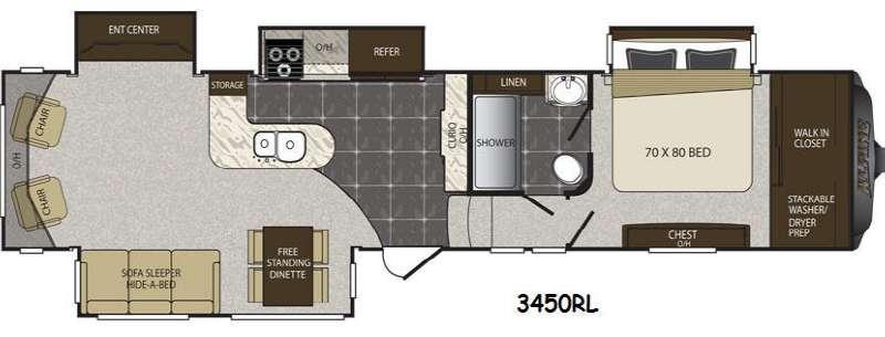Floorplan - 2015 Keystone RV Alpine 3450RL