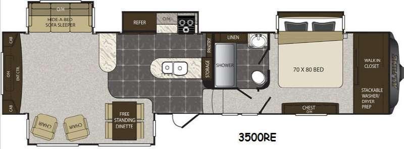 Floorplan - 2015 Keystone RV Alpine 3500RE