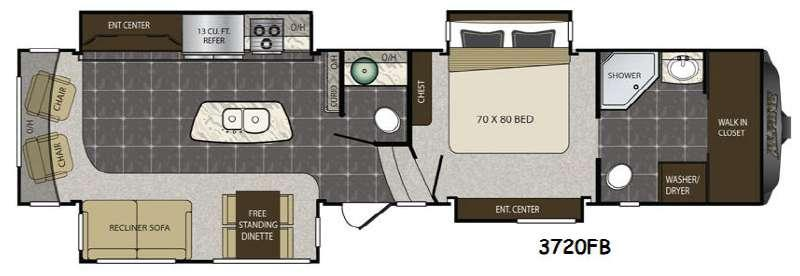 Alpine 3720FB Floorplan Image