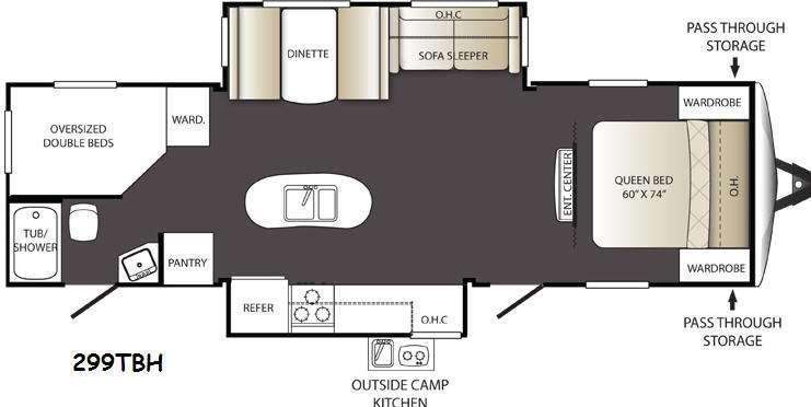 Floorplan - 2015 Keystone RV Outback Terrain Ultra Lite 299TBH