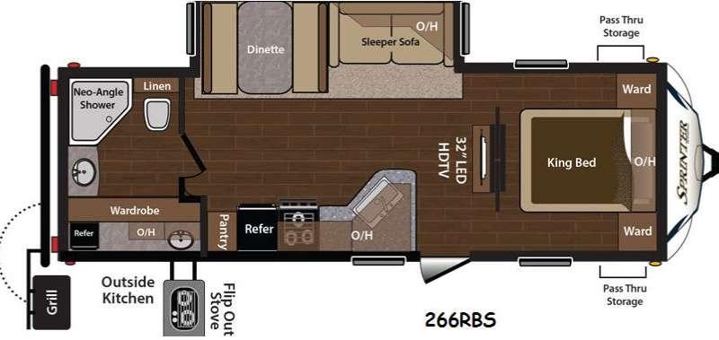 Floorplan - 2015 Keystone RV Sprinter 266RBS