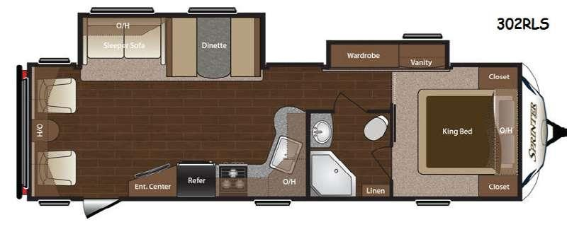 Floorplan - 2015 Keystone RV Sprinter 302RLS