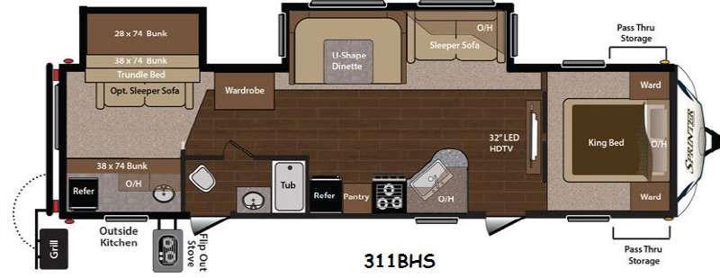 Floorplan - 2015 Keystone RV Sprinter 311BHS