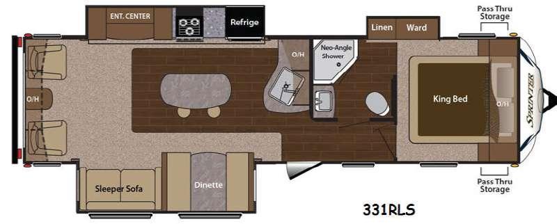 Floorplan - 2015 Keystone RV Sprinter 331RLS