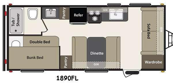 Floorplan - 2015 Keystone RV Summerland 1890FL
