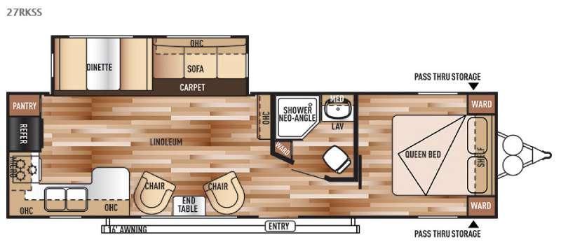 Floorplan - 2015 Forest River RV Salem 27RKSS