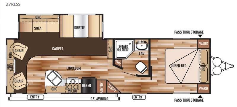 Floorplan - 2015 Forest River RV Salem 27RLSS