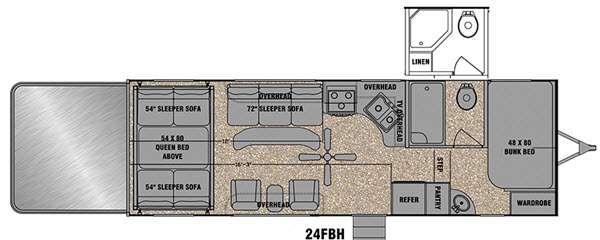 Floorplan - 2015 EverGreen RV Amped 24FBH