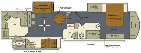 Floorplan - 2015 EverGreen RV Bay Hill 340RK
