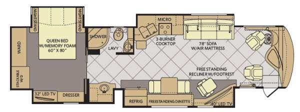 Floorplan - 2015 Fleetwood RV Discovery 37R