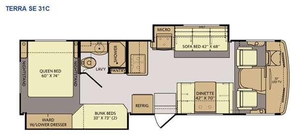 Floorplan - 2015 Fleetwood RV Terra SE 31C