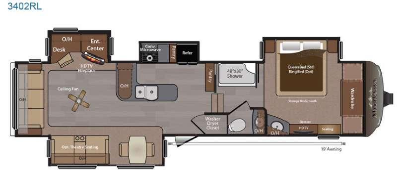 Floorplan - 2015 Keystone RV Montana 3402 RL