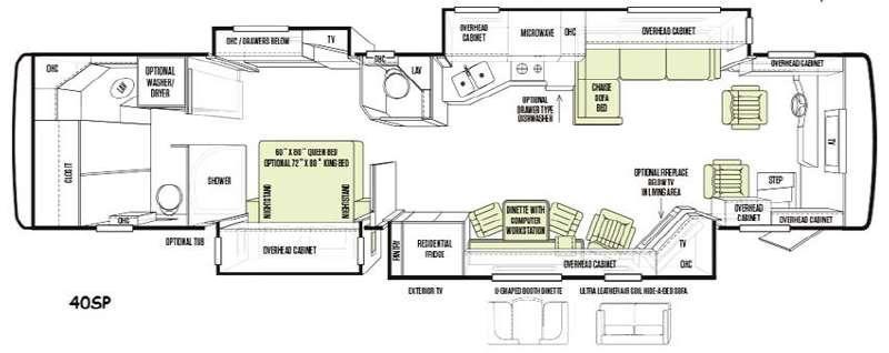 Floorplan - 2014 Tiffin Motorhomes Allegro Bus 40 SP