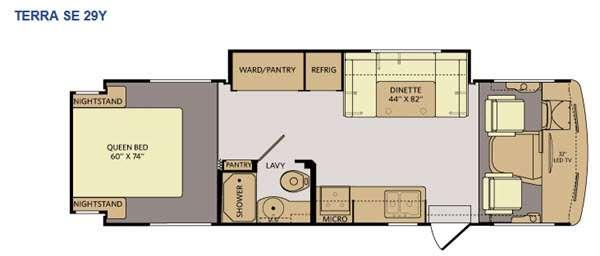 Floorplan - 2015 Fleetwood RV Terra SE 29Y