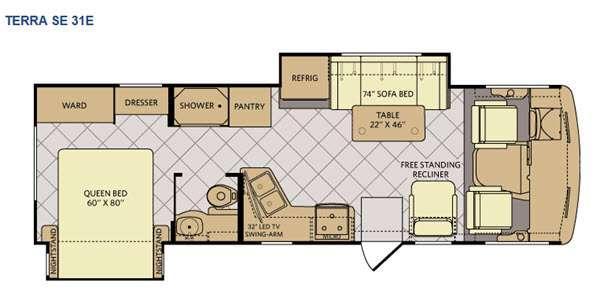 Floorplan - 2015 Fleetwood RV Terra SE 31E
