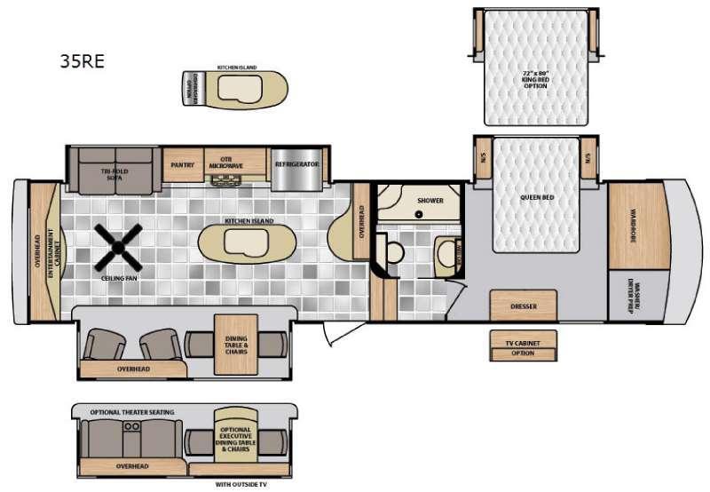 Floorplan - 2015 Winnebago Industries Towables Destination 35RE
