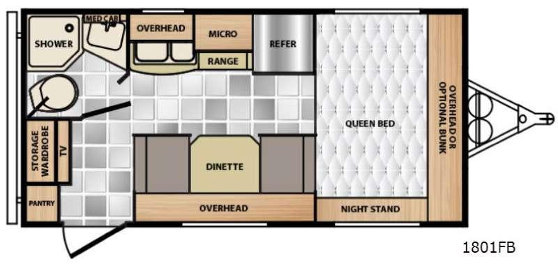 Floorplan - 2015 Winnebago Industries Towables Minnie 1801 FB
