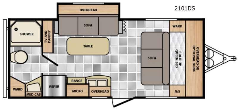 Floorplan - 2015 Winnebago Industries Towables Minnie 2101 DS