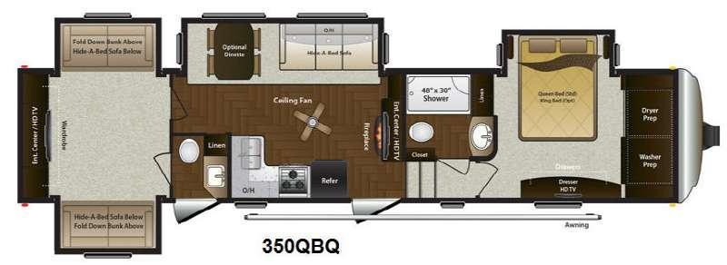 Mountaineer 350QBQ Floorplan Image