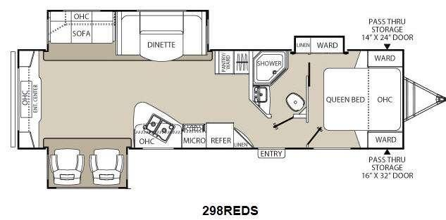 Floorplan - 2015 Coachmen RV Freedom Express Liberty Edition 298REDS
