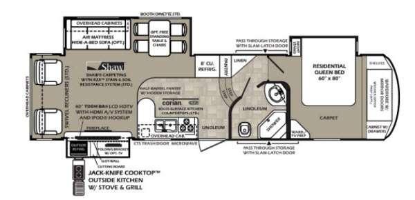 Wildcat 317RL Floorplan Image